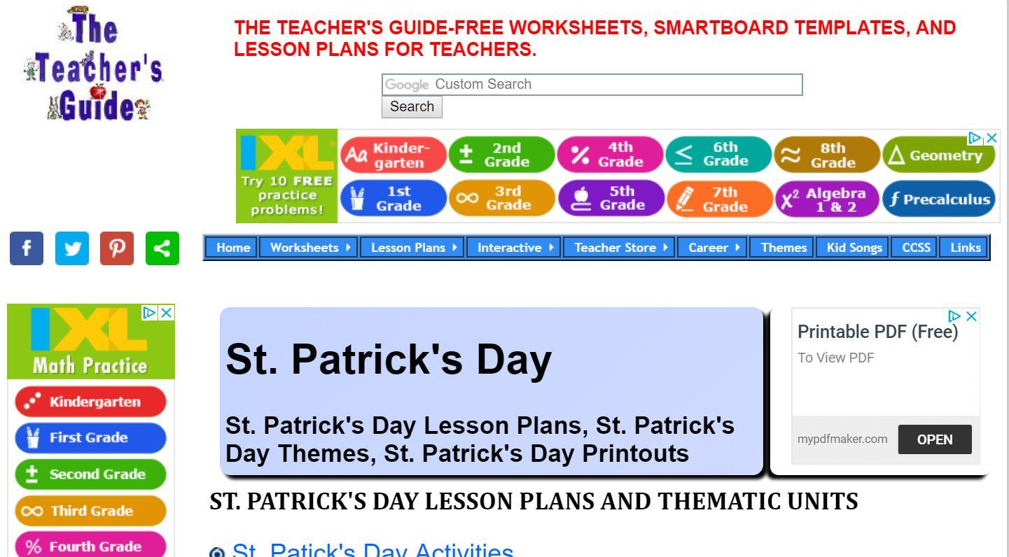 Ixl Math Website | Free Teacher Printables, Worksheets | Teacher Websites Free Printable Worksheets