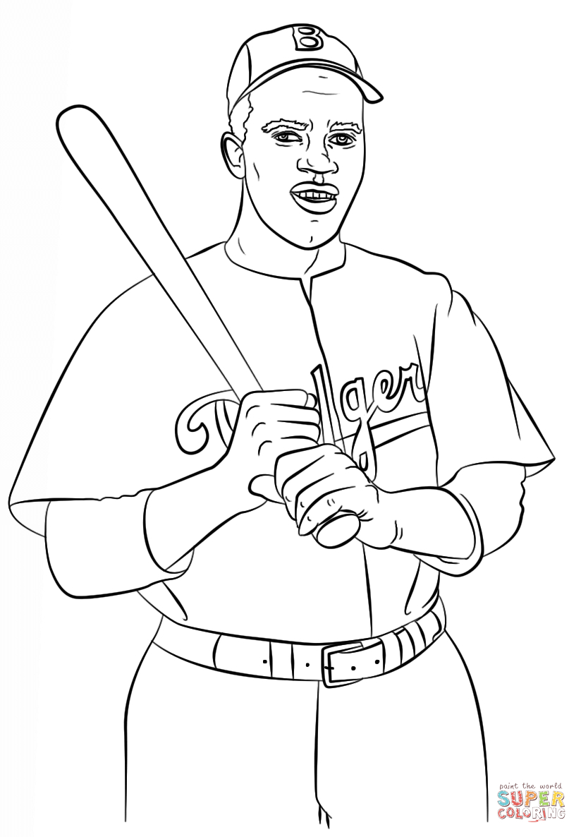 Jackie Robinson Coloring Page | Free Printable Coloring Pages | Free Printable Worksheets On Jackie Robinson