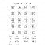 Jesus Miracles Word Search   Wordmint | Printable Worksheets Miracles Jesus