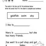 Kindergarten English Worksheets – With Sight Words Also Preschool | English Worksheets Printables