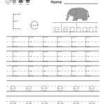 Kindergarten Letter E Writing Practice Worksheet Printable | Free Printable Letter Practice Worksheets