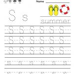 Kindergarten Letter S Writing Practice Worksheet Printable | G | Free Printable Writing Worksheets