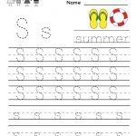 Kindergarten Letter S Writing Practice Worksheet Printable   G   Free Printable Writing Worksheets For Kindergarten