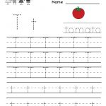Kindergarten Letter T Writing Practice Worksheet Printable | Letter | Trace Your Name Worksheets Printables