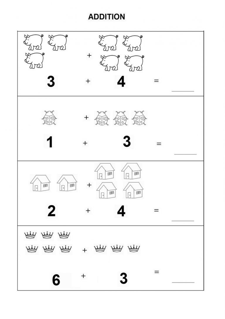 Kindergarten Math Worksheets Pdf Addition | Dining Etiquette | Printable Preschool Worksheets Pdf