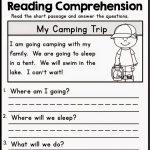 Kindergarten Reading Comprehension Worksheets Multiple Cho   Free | Kindergarten Reading Printable Worksheets