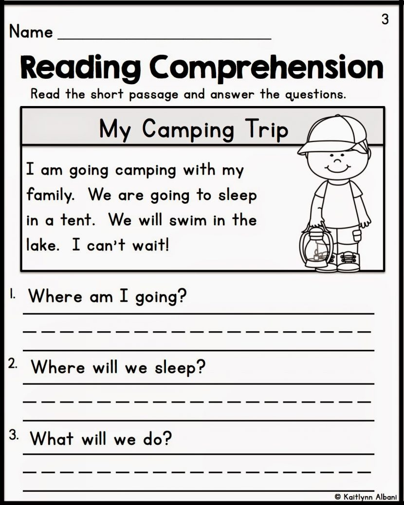 Kindergarten Reading Comprehension Worksheets Multiple Cho - Free | Kindergarten Reading Printable Worksheets