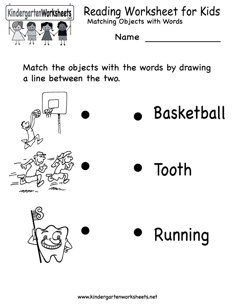 Kindergarten Reading Worksheet For Kids Printable | Worksheets | Kindergarten Reading Printable Worksheets