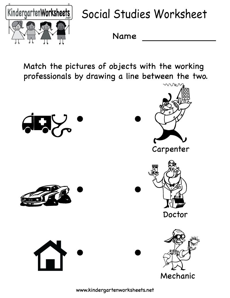 Kindergarten Social Studies Worksheet Printable | Worksheets (Legacy | Free Printable Social Studies Worksheets For 1St Grade