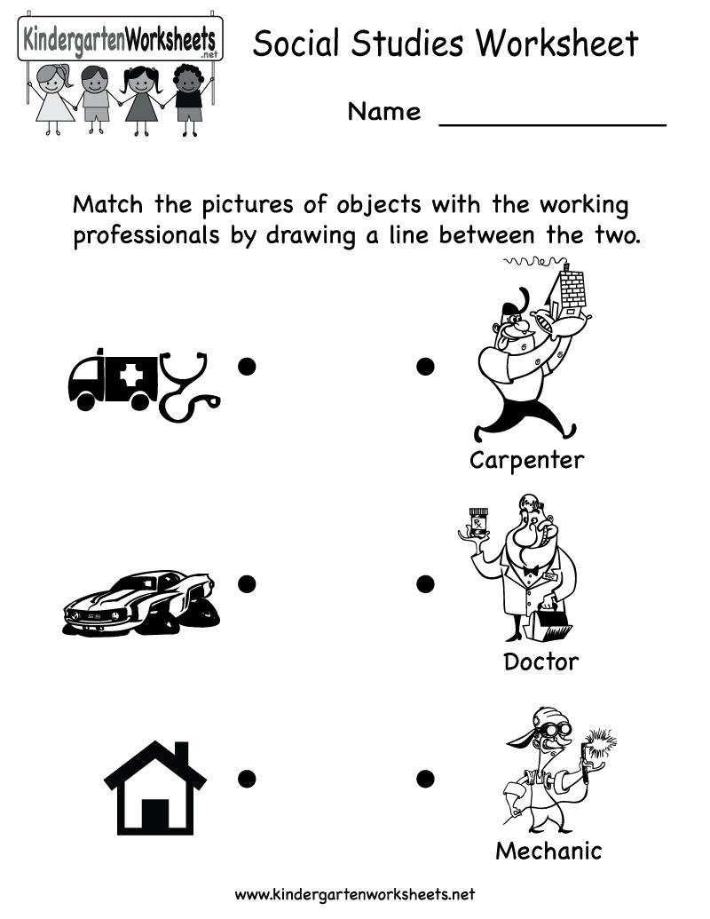 Kindergarten Social Studies Worksheet Printable | Worksheets (Legacy | Free Printable Social Studies Worksheets