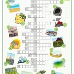 Landscapes Crossword Puzzle Worksheet   Free Esl Printable | Free Printable Landform Worksheets
