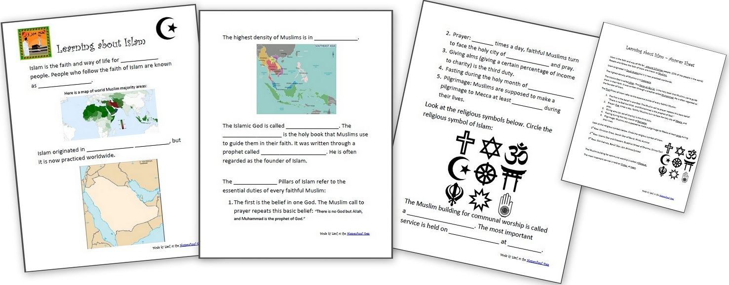 Learning About Islam - Free Worksheets And Resources For Kids | World History Printable Worksheets