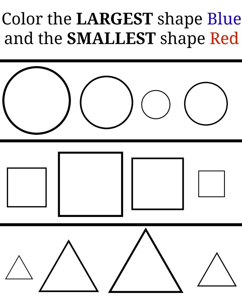 Learning Small And Large – Free Printables. Great Free Printable   Big And Small Ideas Printable Worksheets