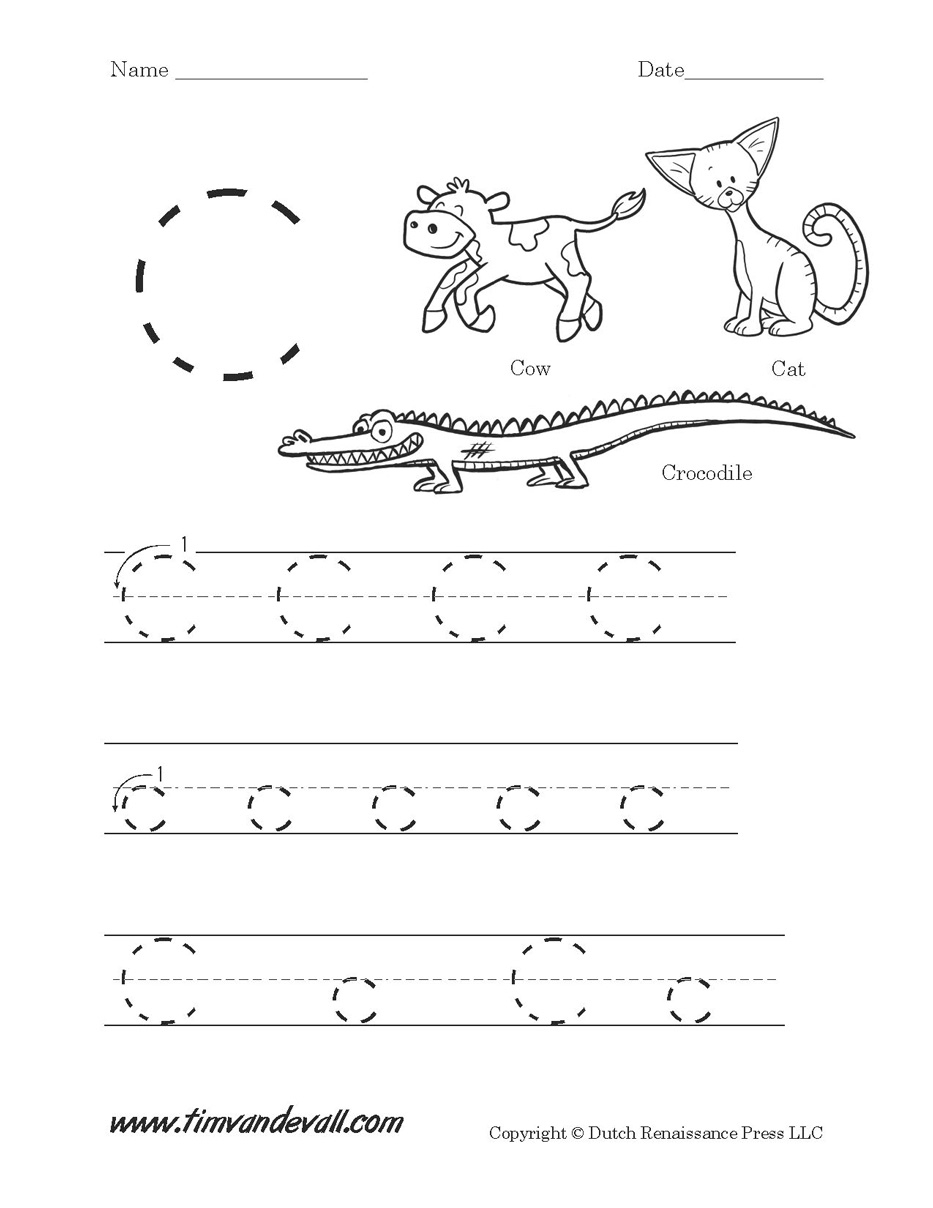 Letter C Worksheets | Preschool Alphabet Printables | Letter C Printable Worksheets