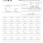 Letter C Writing Practice Worksheet   Free Kindergarten English | Kindergarten Worksheets Printable Writing