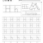 Letter H Writing Practice Worksheet   Free Kindergarten English | Free Printable Letter Practice Worksheets