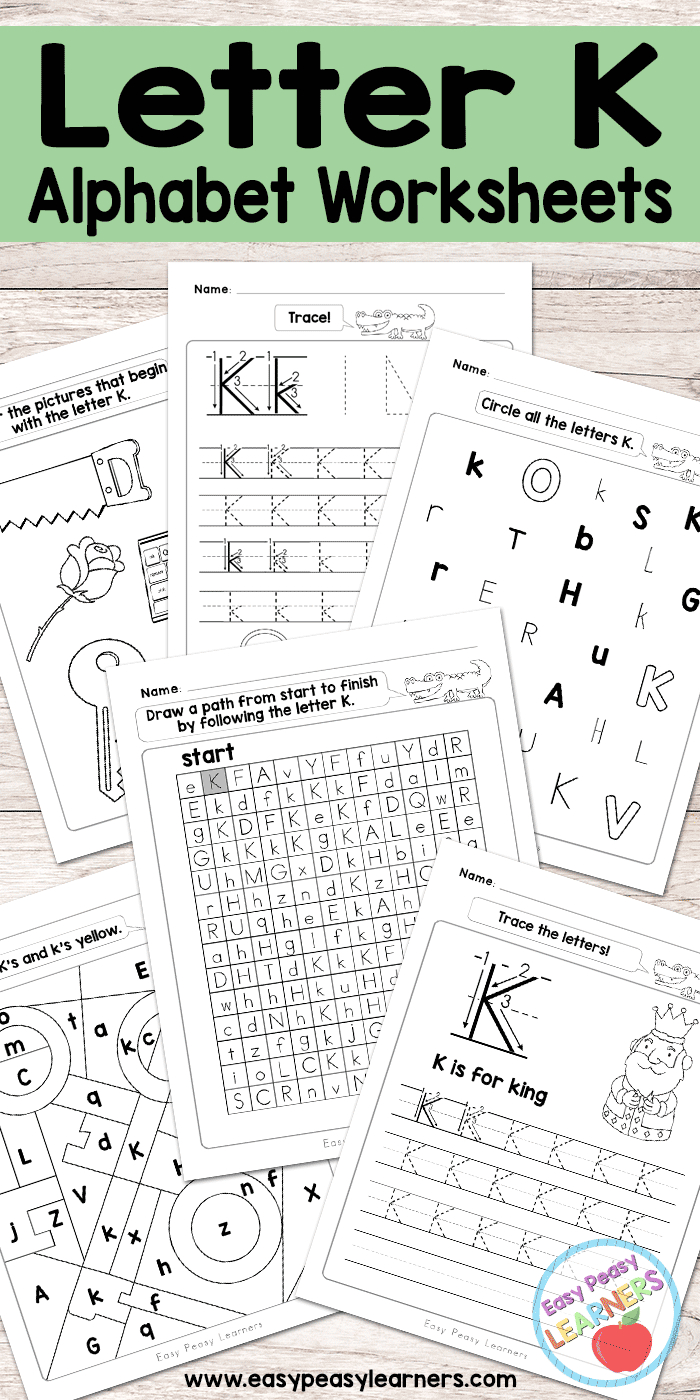 Letter K Worksheets - Alphabet Series - Easy Peasy Learners | Letter K Worksheets Printable