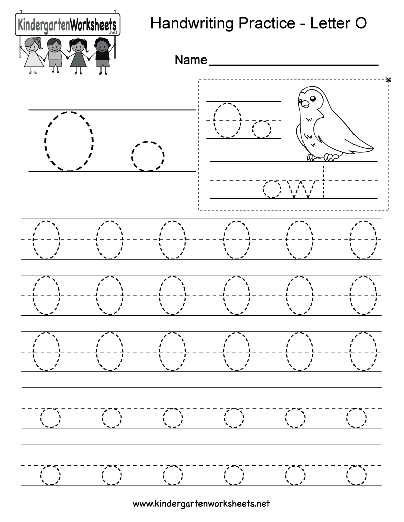 Letter O Writing Practice Worksheet - Free Kindergarten English | Letter O Printable Worksheets