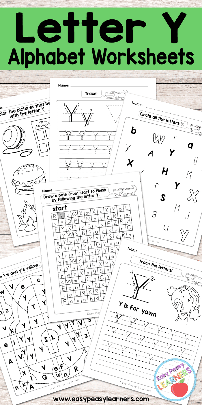 Letter Y Worksheets - Alphabet Series - Easy Peasy Learners | Printable Letter Worksheets
