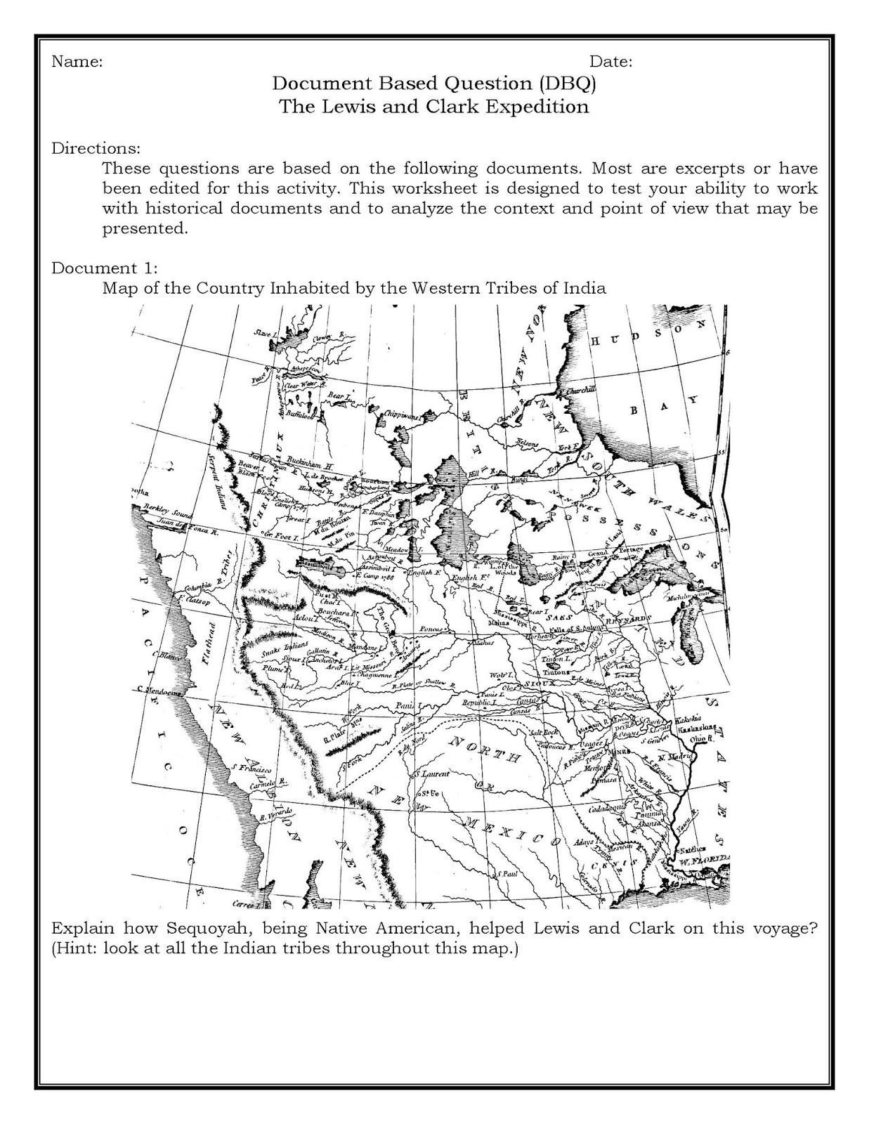 Lewis And Clark Worksheets Choice Image - Kindergarten Preschool | Lewis And Clark Printable Worksheets