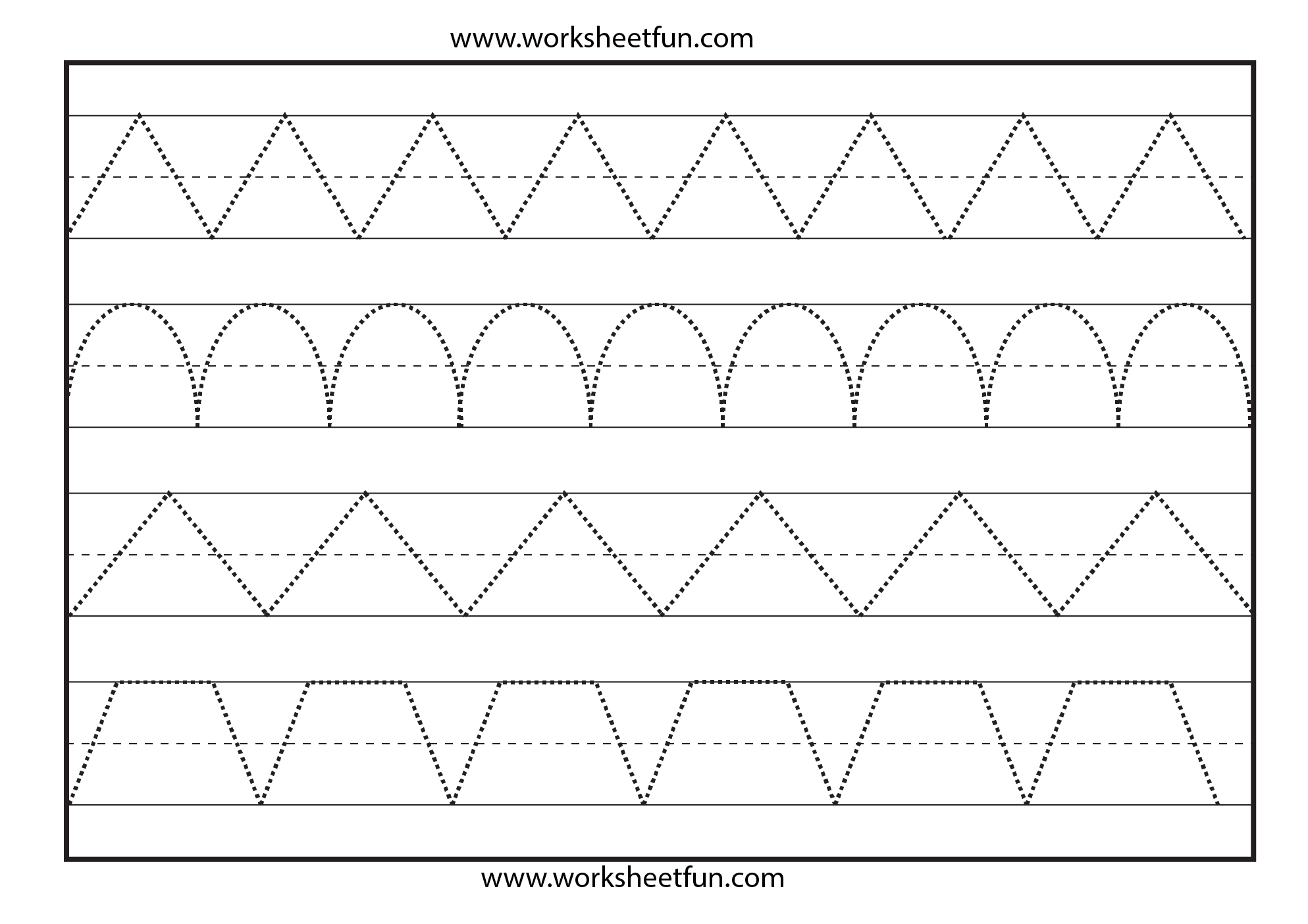 Line Tracing – 1 Worksheet / Free Printable Worksheets | Tracing Lines Worksheets Printable