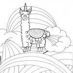 Llamacorn Coloring Page Pdf Printable Artjournalingart On Etsy | Colouring Worksheets Printable Pdf