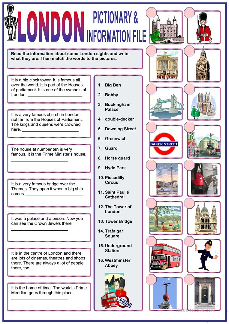 London Worksheet - Free Esl Printable Worksheets Madeteachers | London Worksheets Printable