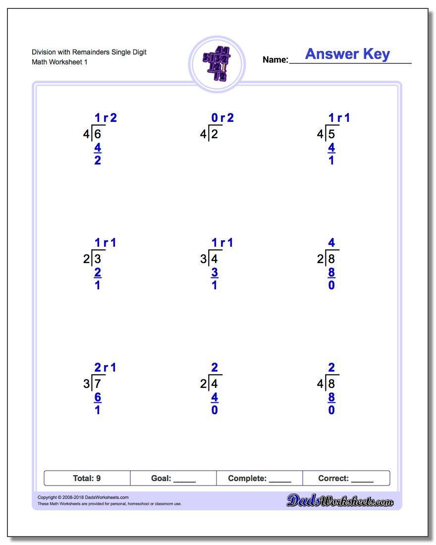 Long Division Worksheets | Printable Math Worksheets Long Division