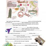 Lucy Is Going To Italy Worksheet   Free Esl Printable Worksheets | Italian Worksheets For Beginners Printable