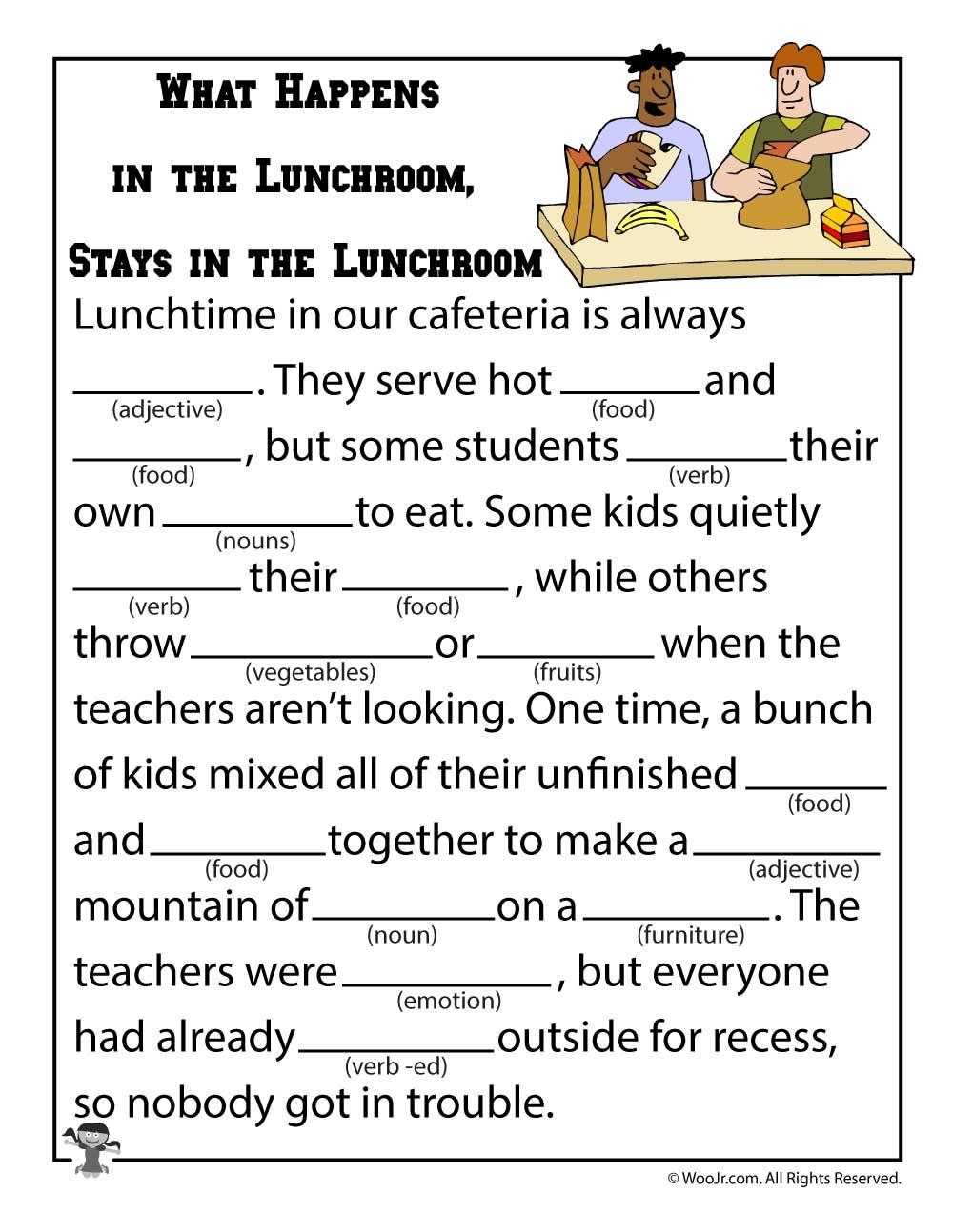 Mad Libs Worksheets | Woo! Jr. Kids Activities | Funny Mad Libs Printable Worksheets