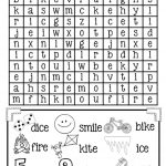 Magic E Long I Word Search {Free} | Elementary Classroom | Long I | Magic E Worksheets Free Printable