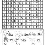 Magic E Long I Word Search {Free}   Elementary Classroom   Long I   Magic E Worksheets Free Printable