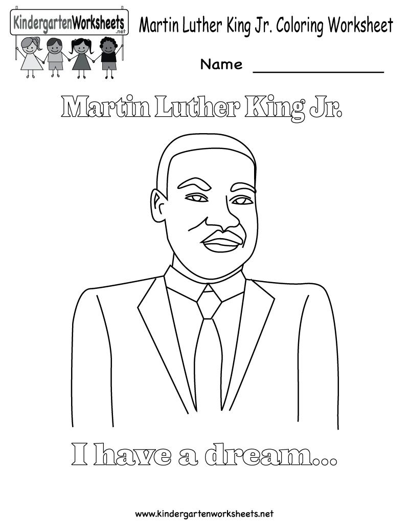 Martin Luther King Jr Coloring Pages | Martin Luther King Coloring | Free Printable Martin Luther King Jr Worksheets For Kindergarten