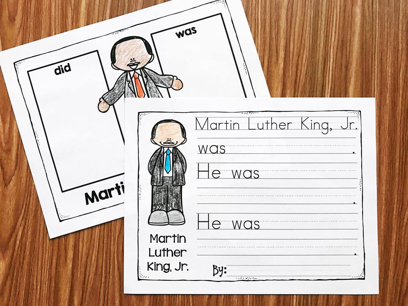 Martin Luther King Kindergarten Printables - Simply Kinder | Free Printable Martin Luther King Jr Worksheets For Kindergarten