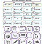 Match The Computer Parts Worksheet   Free Esl Printable Worksheets | Free Printable Computer Keyboarding Worksheets