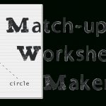 Matching Worksheet Maker: Create Custom Printable Worksheets   Make | Printable Worksheet Maker