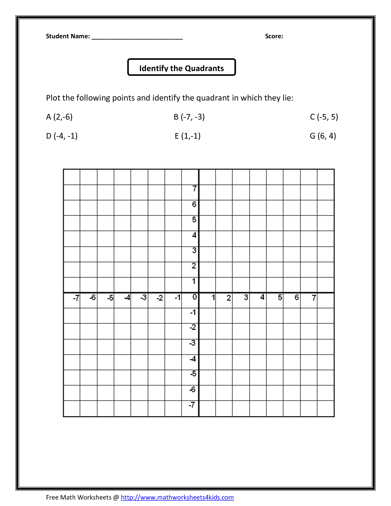 Math : Coordinate Plane Grid Coordinate Template 0 To 12 2 - Free | Free Printable Coordinate Graphing Worksheets