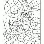 Math Worksheets Colornumber 4Th Grade Coloring Pages Fresh   Free   Printable Color By Number Math Worksheets
