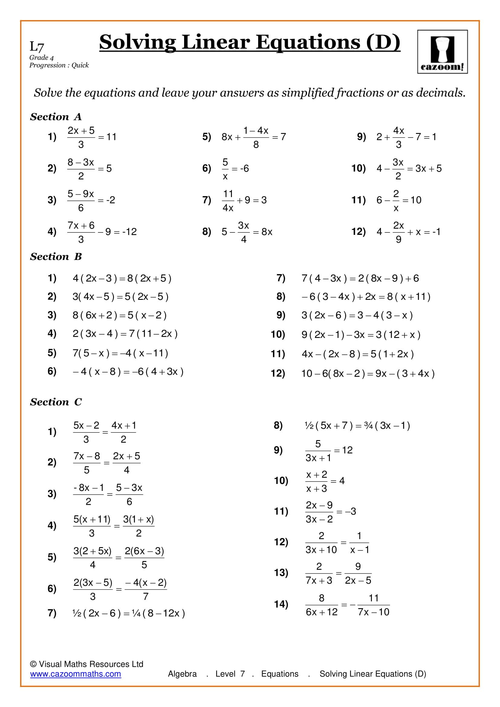 Maths Worksheets | Ks3 & Ks4 Printable Pdf Worksheets | Year 10 English Worksheets Printable