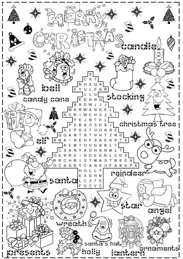 Merry Christmas Worksheet - Free Esl Printable Worksheets Made | Christmas Worksheets Printables