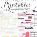 More Than 200 Free Home Management Binder Printables | Fab N' Free | Free Printable Home Organization Worksheets