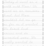 Multiplication Word Problems 4Th Grade And Cursive Writing Alphabet | Free Printable Cursive Writing Worksheets For 4Th Grade