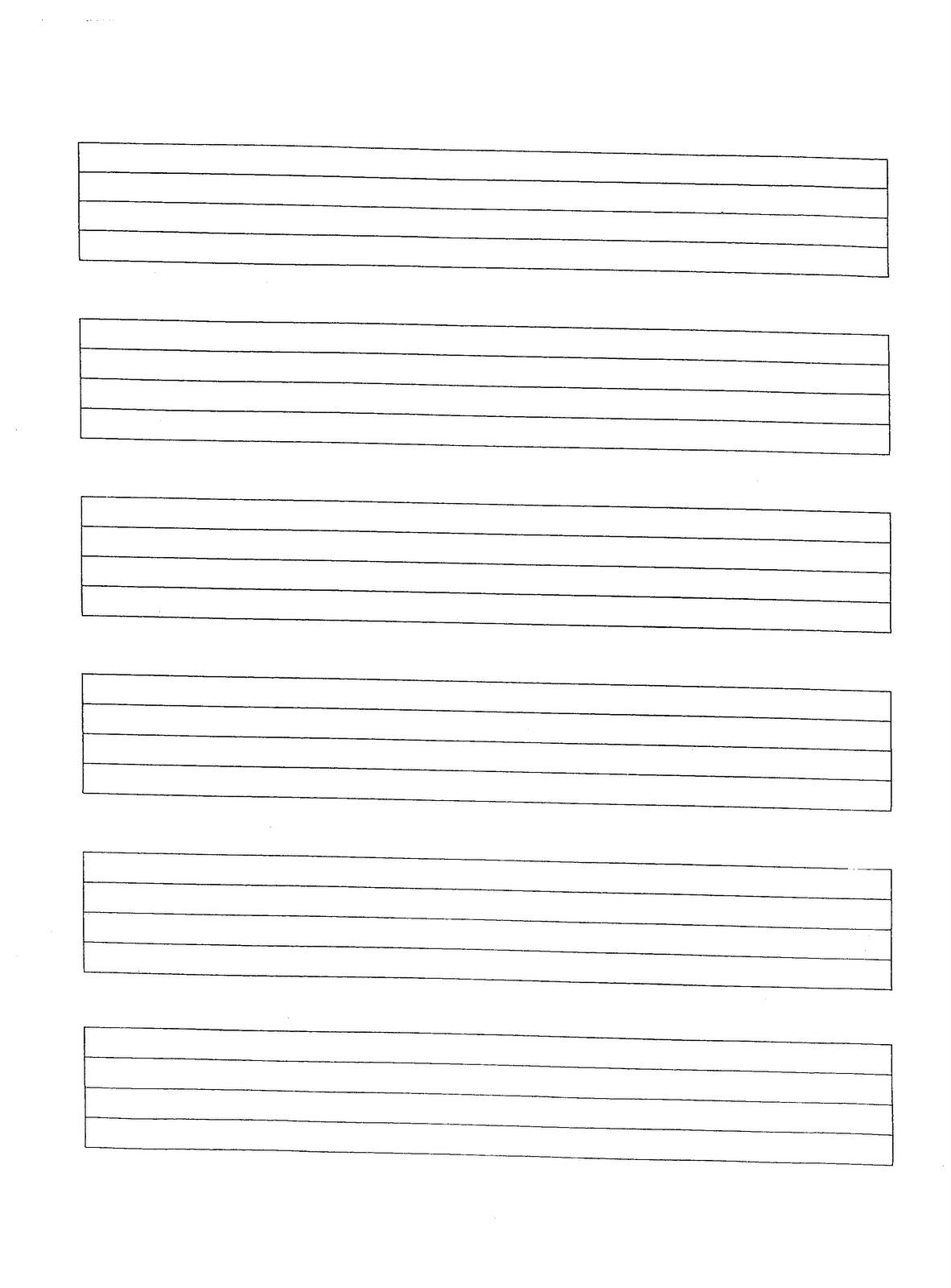 Music Manuscript Paper Free Printable | Sites Where You Can Find | Manuscript Printable Worksheets