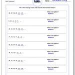 Number Patterns | Printable Number Pattern Worksheets