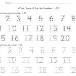 Numbers 1 50 Math Tracing Math Number Worksheets 1 2 For Preschool | Free Printable Number Worksheets