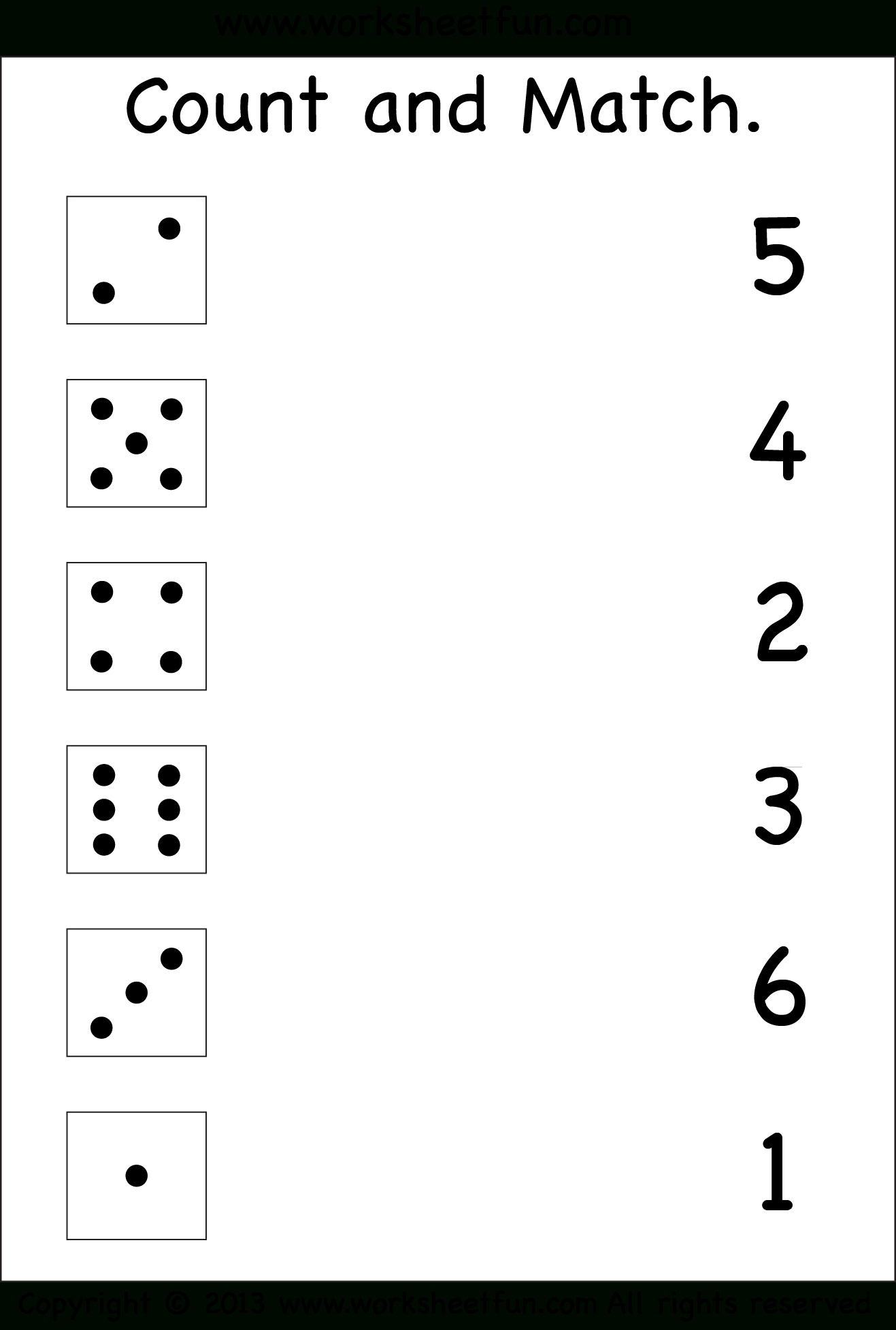 Numbers – Count And Match / Free Printable Worksheets – Worksheetfun | Www Free Printable Worksheets