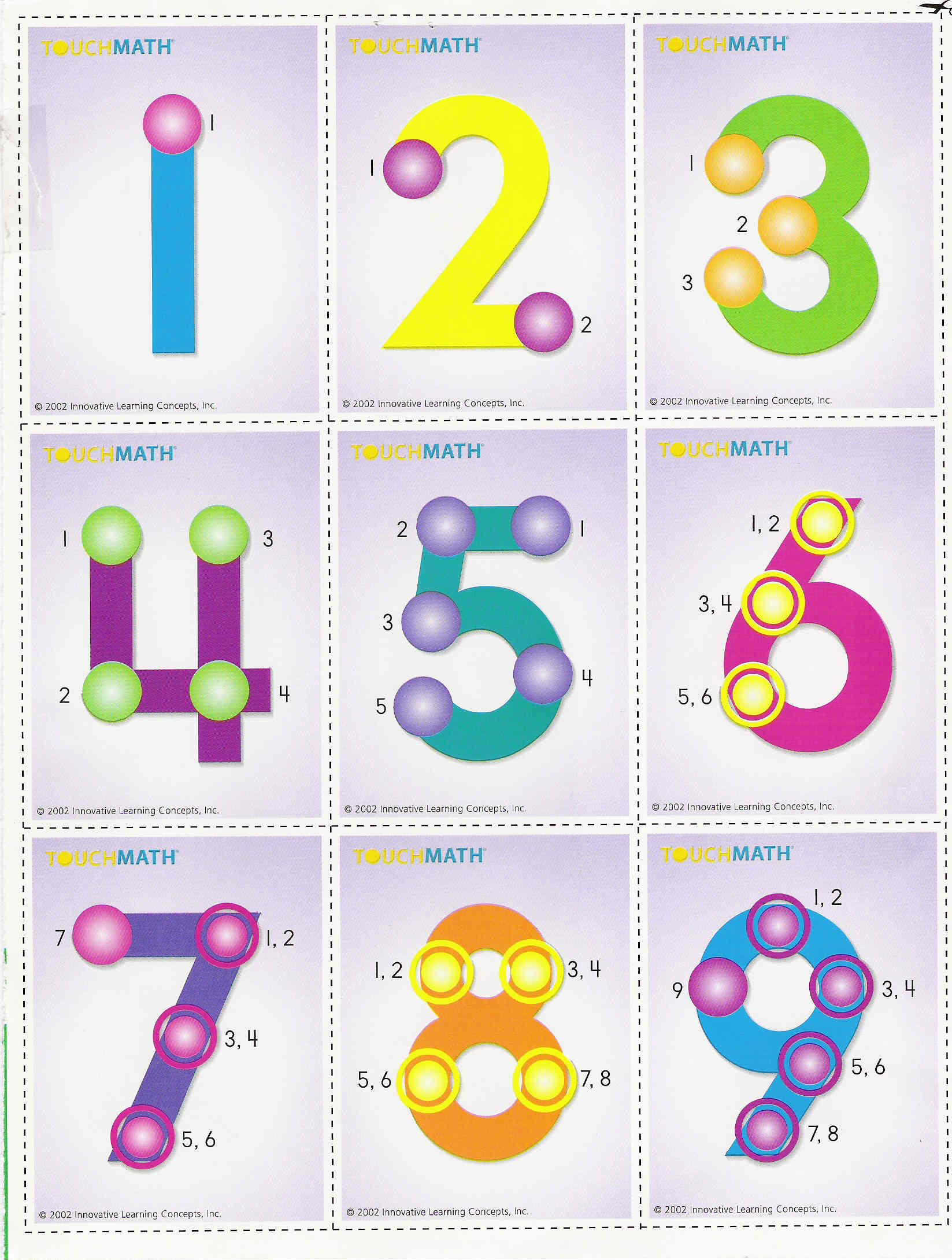 One Of The Ways We Learn To Add And Subtract In Our Classroom | Printable Touch Math Multiplication Worksheets
