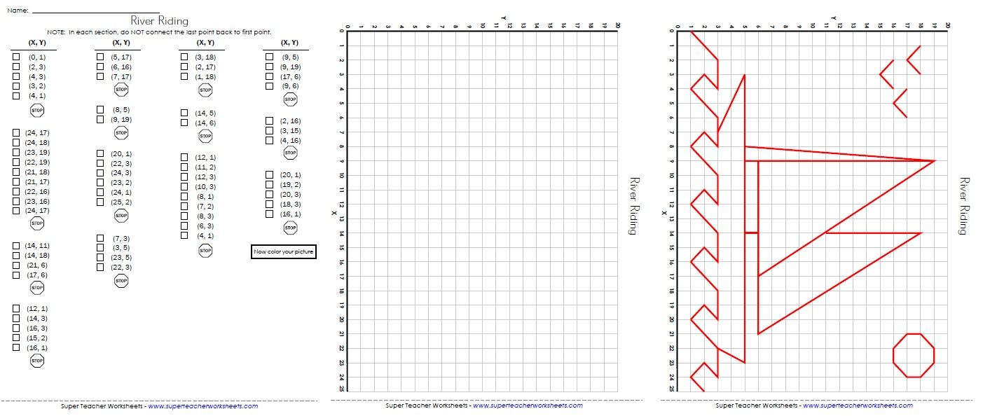 Ordered Pairs And Coordinate Plane Worksheets | Free Printable Coordinate Graphing Worksheets