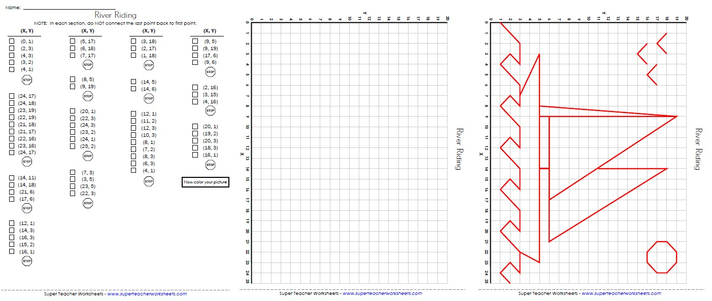 Ordered Pairs And Coordinate Plane Worksheets - Free Printable | Free Printable Coordinate Grid Worksheets
