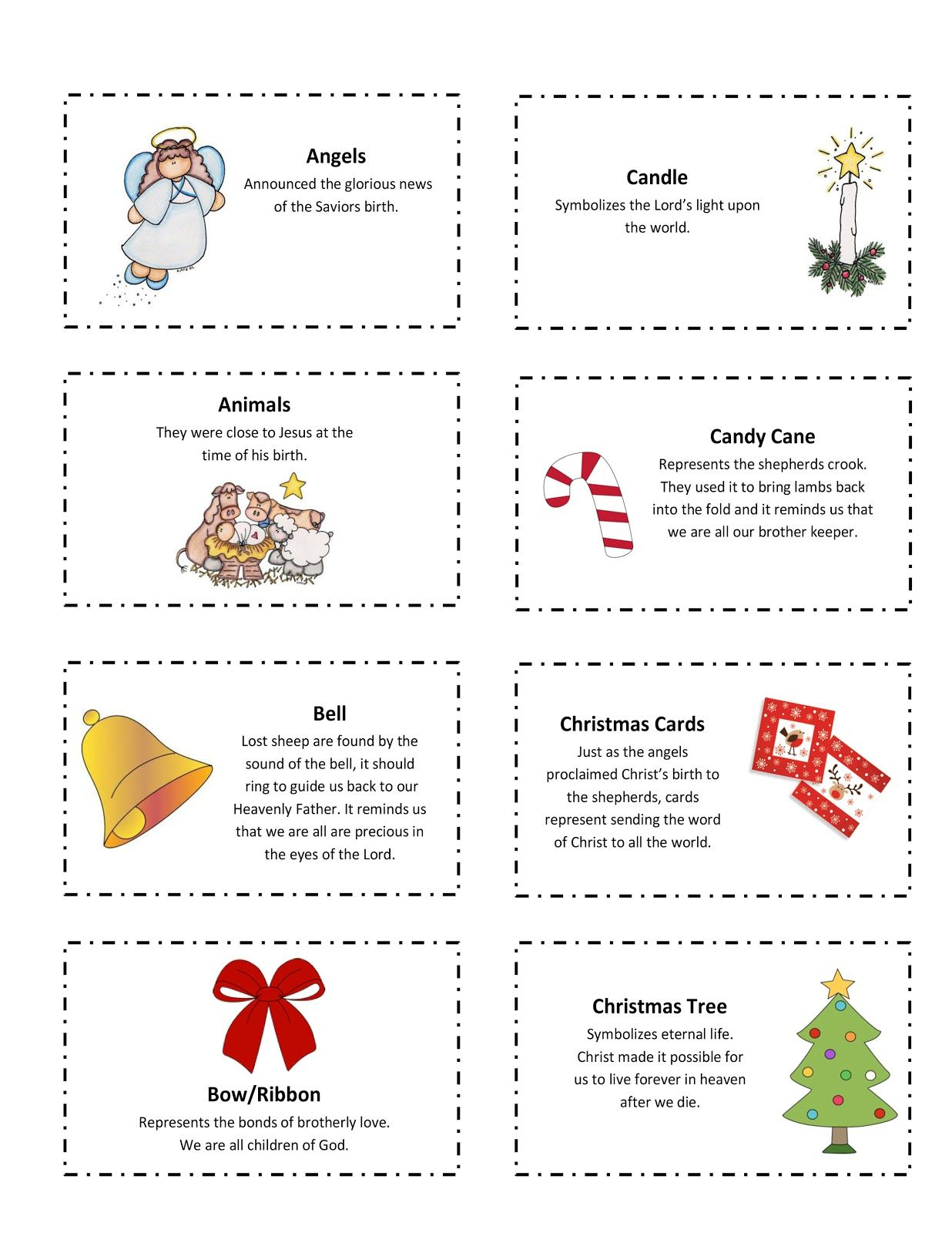 Ourhomecreations: Free Printable With 25 Days Of Christmas Symbols | Christian Christmas Worksheets Printable Free